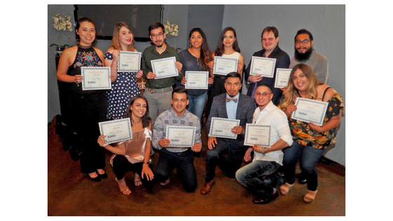 A group photo of the 2017 scholarship winners for the Society of Professional Journalist's San Antonio chapter.